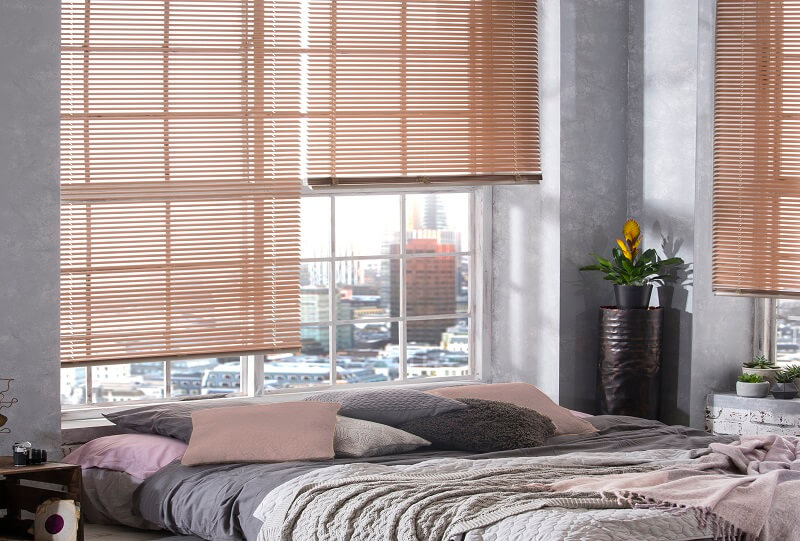 Venetian Blind Range-RoseGold-Drapes By Design