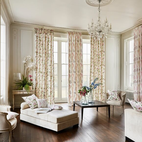 About Drapes By Design- Hand Made Blinds & Curtains Kent -GRAND BOTANICAL ROOM