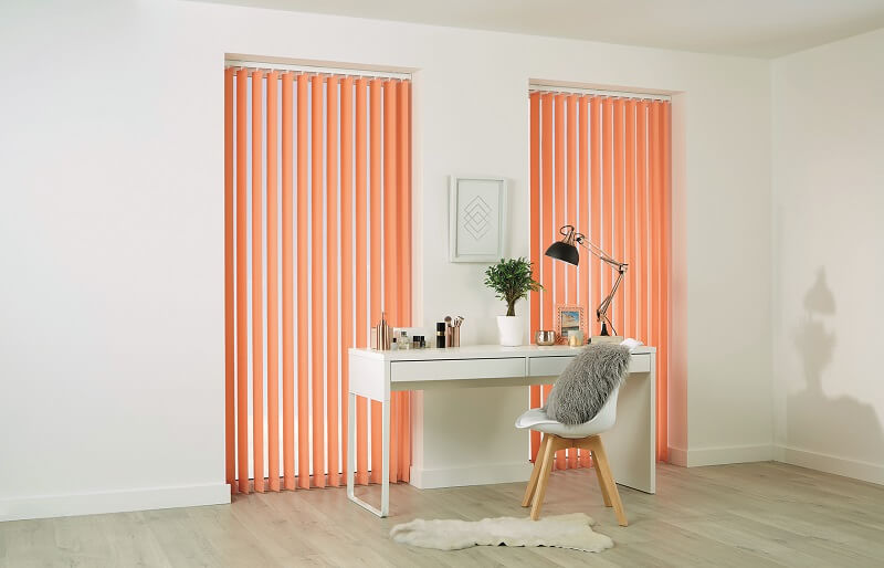 Bespoke Vertical Blinds-Vertical_Carnival_Canteloupe-Drapes By Design
