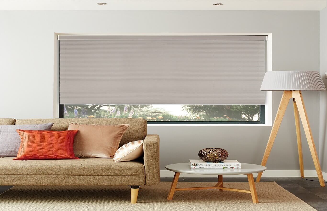 Child Safe Pleated Blinds-Pleated_Basix_Steel-Drapes By Design