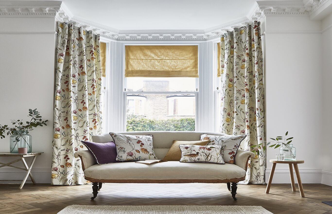 Made to measure Curtains Dartford-ABBEY GARDENS-Drapes By Design