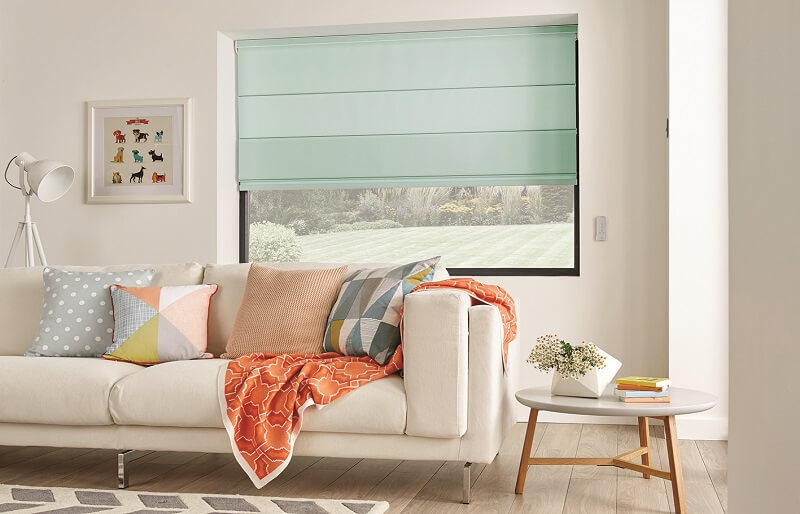 Roman Blinds Made to Measure Dartford-Roman_Carnival_Peppermint-Drapes By Design