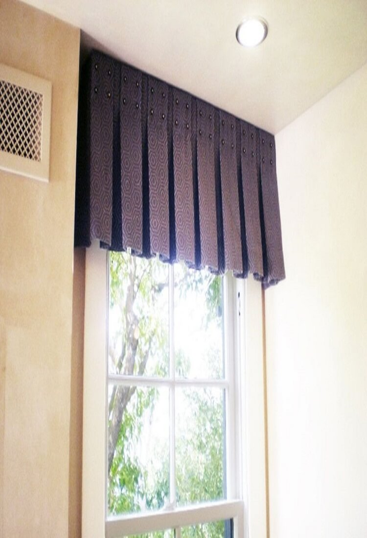 Curtain Pelmets Dartford-Pleated Valance-Drapes By Design
