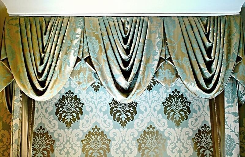 Curtain Pelmets Dartford-swags-tails-Drapes By Design